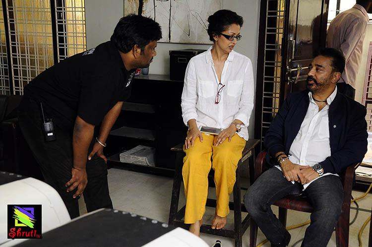 Kamal Haasan New Film 'Thoongavanam' Working Stills