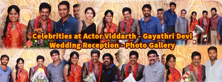 Actor Viddarth – Gayathri Devi Wedding Reception Photo Gallery