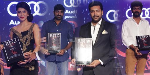 The Audi Ritz Style Awards | Shruti Haasan, Jayam Ravi, Vijay Sethupathi