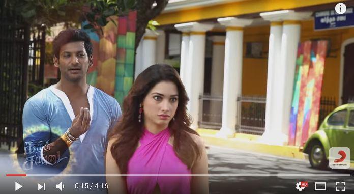Kaththi Sandai – Naan Konjam Karuppu Thaan Song Making Video